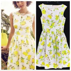 KATE SPADE NEW YORK Capri Lyric Lemon Print Dress